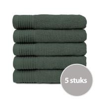 The One Handdoek Voordeelpakket 450 gram 50x100 cm Antraciet (5 stuks)