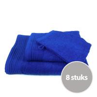 Budgetpakket badtextiel 450 gram Royal Blue - 8 stuks