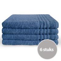 Byrklund Handdoek 70 x 140 cm 500gram Blauw - 6 stuks