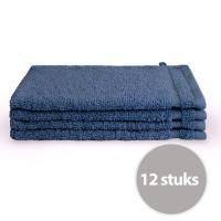 Byrklund Washand 16x21 cm 500gram Blauw - 12 stuks