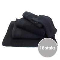 Budgetpakket badtextiel 450 gram Zwart - 8 stuks