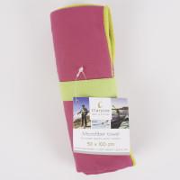 Clarysse Microvezel sneldrogende handdoek 50x100 Roze