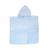The One Baby Poncho met Capuchon Light Blue