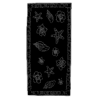 The One Towelling Beach Towels T1-90 Hawaii 90 x 190 600gram Black / Antraciet