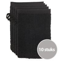 The One Voordeelpakket Washandjes Zwart - 10 stuks