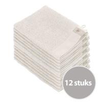 Walra Soft Cotton Washandjes Stone Grey - 12 stuks