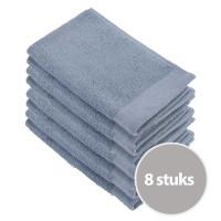 Walra Soft Cotton Gastendoekjes 30x50 cm 550gram Blue - 8 stuks