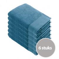 Walra Soft Cotton Handdoek 50x100 Petrol - 6 stuks
