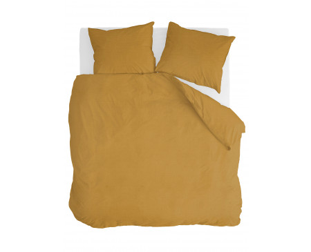 Walra Dekbedovertrek Vintage Cotton Honing Mosterd