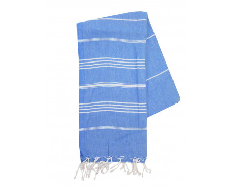 The One Towelling Hamamdoek Blauw/Wit