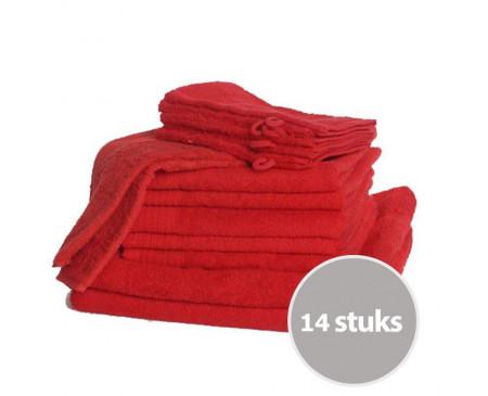 The One Familie Voordeelpakket Rood - 14 stuks