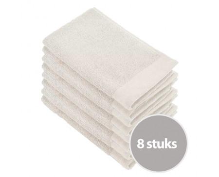 Walra Soft Cotton Voordeelpakket Gastendoekjes Stone Grey - 8 stuks
