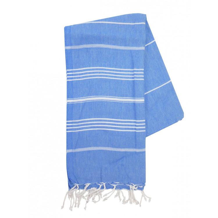 5c2178dc033 The One Towelling Hamam Handdoeken Blauw/Wit