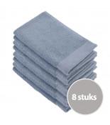 Walra Soft Cotton Gastendoekjes Blue - 8 stuks