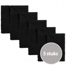 The One Keukendoek 50 x 50 cm Zwart - 5 stuks