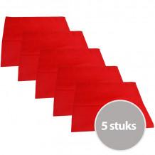 The One Theedoek 50 x 70 cm Rood - 5 stuks