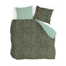 Byrklund Dekbedovertrek Lazy Leopard Groen