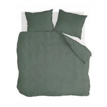 Walra Dekbedovertrek Vintage Cotton Donker Groen