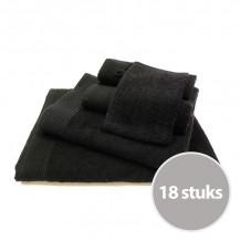 Basic pakket badtextiel 450 gram Zwart - 18 stuks
