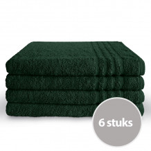 Byrklund Handdoek 70 x 140 cm Donker Groen - 6 stuks