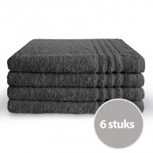 Byrklund Voordeelpakket Badlaken 70 x 140 Antraciet - 4 stuks