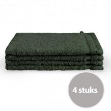 Byrklund Washand Donker Groen 16x21 cm - 4 stuks