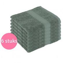Clarysse Voordeelpakket Talis Handdoek 50x100 cm 500gram Donkergroen 6 stuks