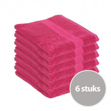 Clarysse Voordeelpakket Talis Handdoek 50x100 cm 500gram Berry 6 stuks