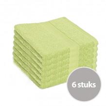 Clarysse Voordeelpakket Talis Handdoek 50x100 cm 500gram Limegroen 6 stuks