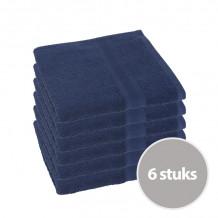 Clarysse Voordeelpakket Talis Handdoek 50x100 cm 500gram Marine 6 stuks