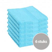 Clarysse Voordeelpakket Talis Handdoek 50x100 cm 500gram Aqua 6 stuks