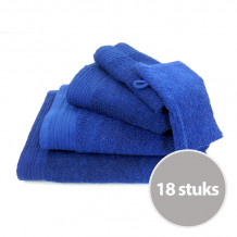 Deluxe pakket badtextiel 550 gram Donker blauw - 18 stuks