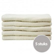 The One Gasten Handdoek 450 gram 30 x 50 cm Creme (5 stuks)