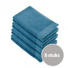 Walra Soft Cotton Voordeelpakket Gastendoekjes Petrol - 8 Stuks