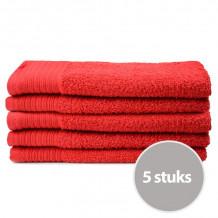 The One Gasten Handdoek 450 gram 30 x 50 cm Rood (5 stuks)