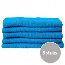 The One Gasten Handdoek 450 gram 30 x 50 cm Turquoise (5 stuks)