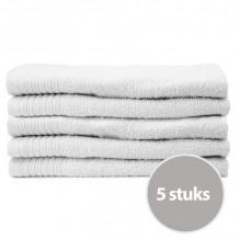 The One Gasten Handdoek 450 gram 30 x 50 cm Wit (5 stuks)