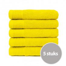 The One Handdoek 450 gram 50 x 100 cm Geel