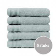 The One Handdoek 450 gram 50 x 100 cm Licht grijs