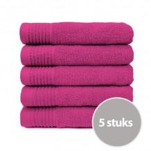 The One Handdoek 450 gram 50 x 100 cm Magenta