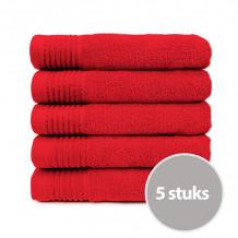 The One Handdoek 450 gram 50x100 cm Rood (5 stuks)
