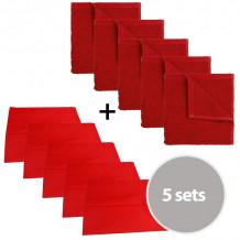 The One Keuken set - 5 x theedoek & 5 x keukendoek - Rood