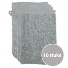 The One Voordeelpakket Washandjes Lichtgrijs - 10 stuks
