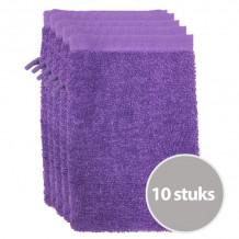 The One Voordeelpakket Washandjes Paars - 10 stuks