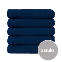 The One Badhanddoek Deluxe 70x140 550 gr Donker Blauw (5 stuks)