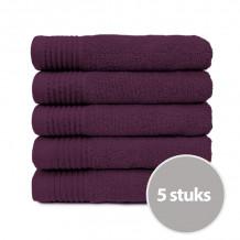 The One Badhanddoek Deluxe Voordeelpakket 70x140 550 gram Plum (5 stuks)