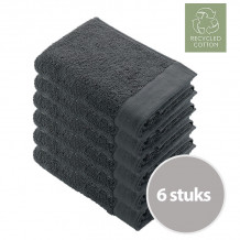 Walra Remade Cotton Handdoek 70 x 140 cm 550 gram Grey - 6 stuks