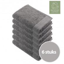 Walra Remade Cotton Handdoek 50 x 100 cm 550 gram Taupe - 6 stuks