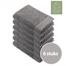 Walra Remade Cotton Handdoek 60 x 110 cm 550 gram Taupe - 6 stuks