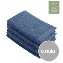 Walra Remade Cotton Gastendoekje 30 x 50 cm 550 gram Blauw - 6 stuks